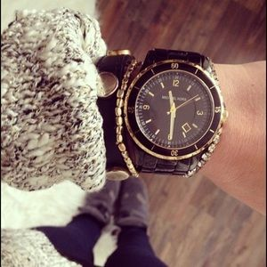 Michael Kors Black and Gold watch MK-5173 🖤🧡🖤